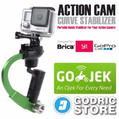 GoPro Action Cam Plastic Curve Stabilizer for GoPro, BRICA B-PRO & Xiaomi Yi - Hijau