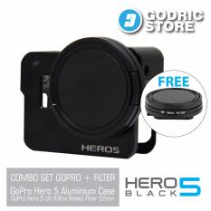 GoPro Hero 5 Set Aluminium Case & UV Filter 52mm Paket Combo Hemat