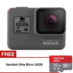 GoPro Hero 6 - Black + Gratis Sandisk Ultra Micro SDHC 98MB/s 32GB Class 10 A1