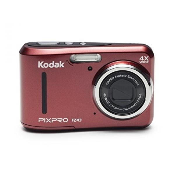 """GPL/ Kodak PIXPRO Friendly Zoom FZ43 16 MP Digital Camera with 4X Optical Zoom and 2.7"""" LCD Screen (Red)/ship from USA - intl"""