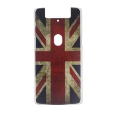 Great Britain Clear Edge Hard Plastic Painting Back Cover Case For OPPO Find 5 mini R827