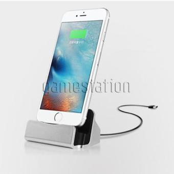 GStation Desktop Stand Charger Lightning Dock Station Cradle SyncFor iPhone 5 / 6 / 7 and for iPod Touch 5 / 6