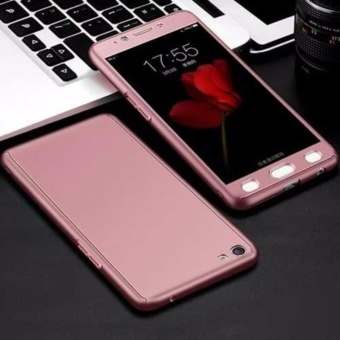 GZ 360 Degree Full Body Protection Hard Cover Case Matte With Tempered Glass for Oppo A77