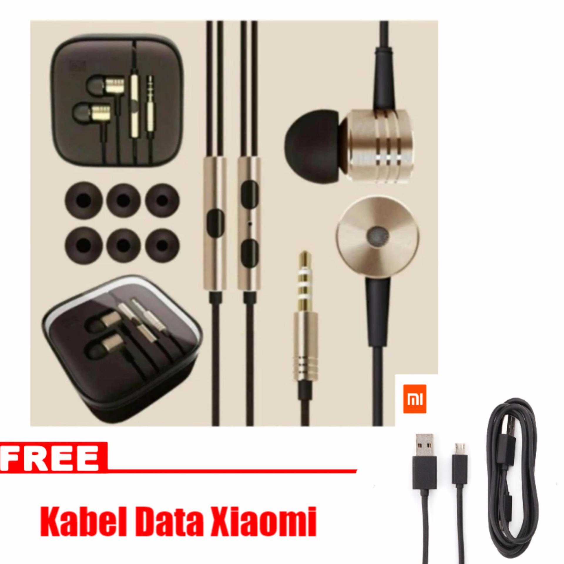 ... Handsfree Xiaomi Earphone Big Bass Piston Mi 2nd Generation Handsfree/ Headset - Gold Free Kabel ...
