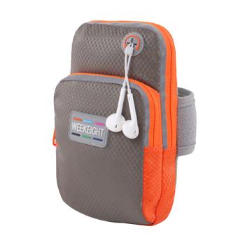 Hanyu Universal telepon Armband Case tas olahraga Fitness Jogging lari lengan Band L tas Pouch (abu-abu) (International) - International