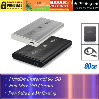 Hardisk Eksternal PS2 80GB - Support Semua SLIM Series Playstation 2 - Best Quality