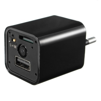 HD 1080P Spy Camera USB Wall Charger Mini US/EU Plug AC Adapter Nanny Camcorder EU plug - intl - 4