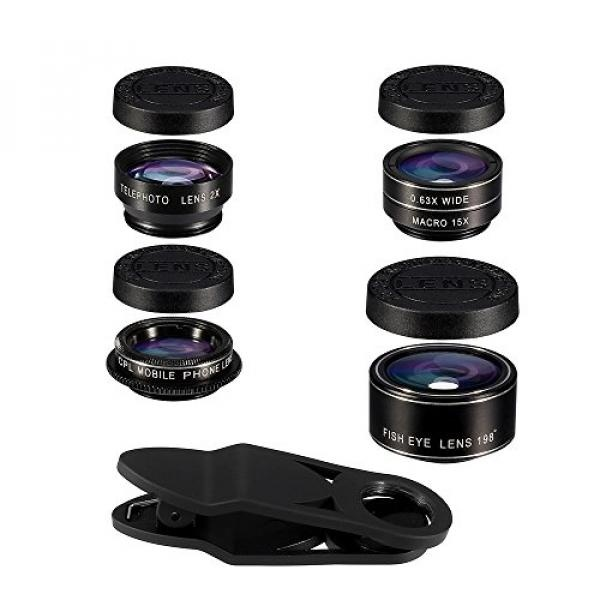 Terbaik Murah HD Camera Lens Kit Flykul Universal 5 In 1 ...