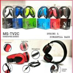 Headphone Bando Super Bass For Sony Xperia E3/E3 Dual - Merah