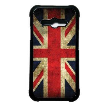 Heavencase Case Casing Samsung Galaxy J1 Ace Case Hardcase VintageBritish Flag 01 - Hitam