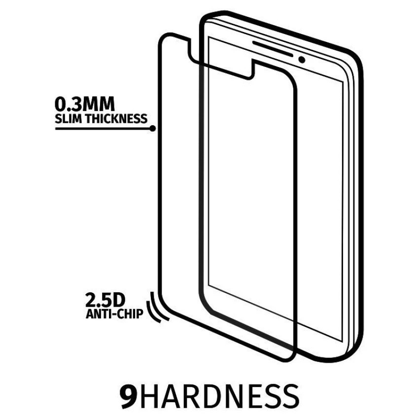 Hercullez Tempered Glass - Premium Screen Protector - Anti Gores Kaca For LG K10 - Clear