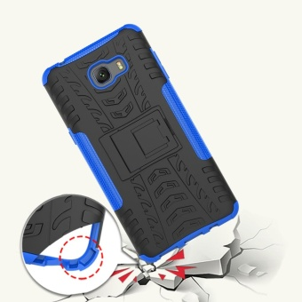 Hicase Detachable 2 in 1 Shockproof Tough Rugged Dual-Layer Case Cover for Samsung Galaxy C9 PRO  Red - intl - 2