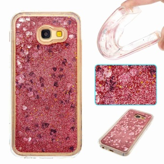 Hicase Flowing Liquid Floating Bling Glitter Sparkle Heart Quicksand Soft TPU Case Cover For Samsung Galaxy