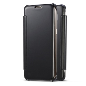 Hicase Mirror Smart Clear View Window Flip Case Cover For Xiaomi Mi Note 2 (2016) Black - intl