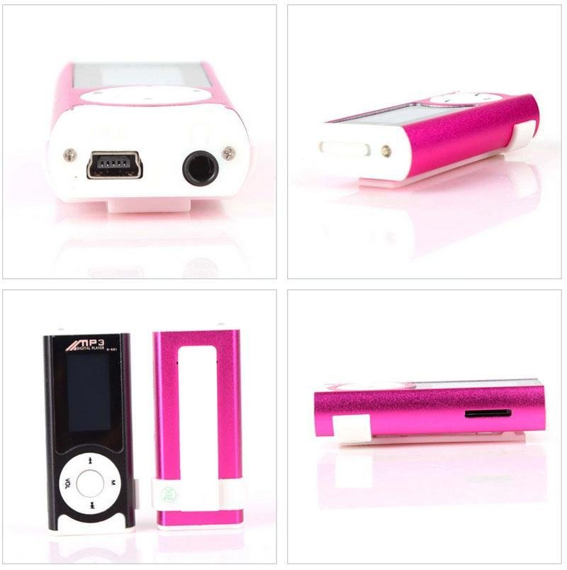 High Quality Brand New Mini Clip USB LCD MP3 Music Player Support16GB Micro .