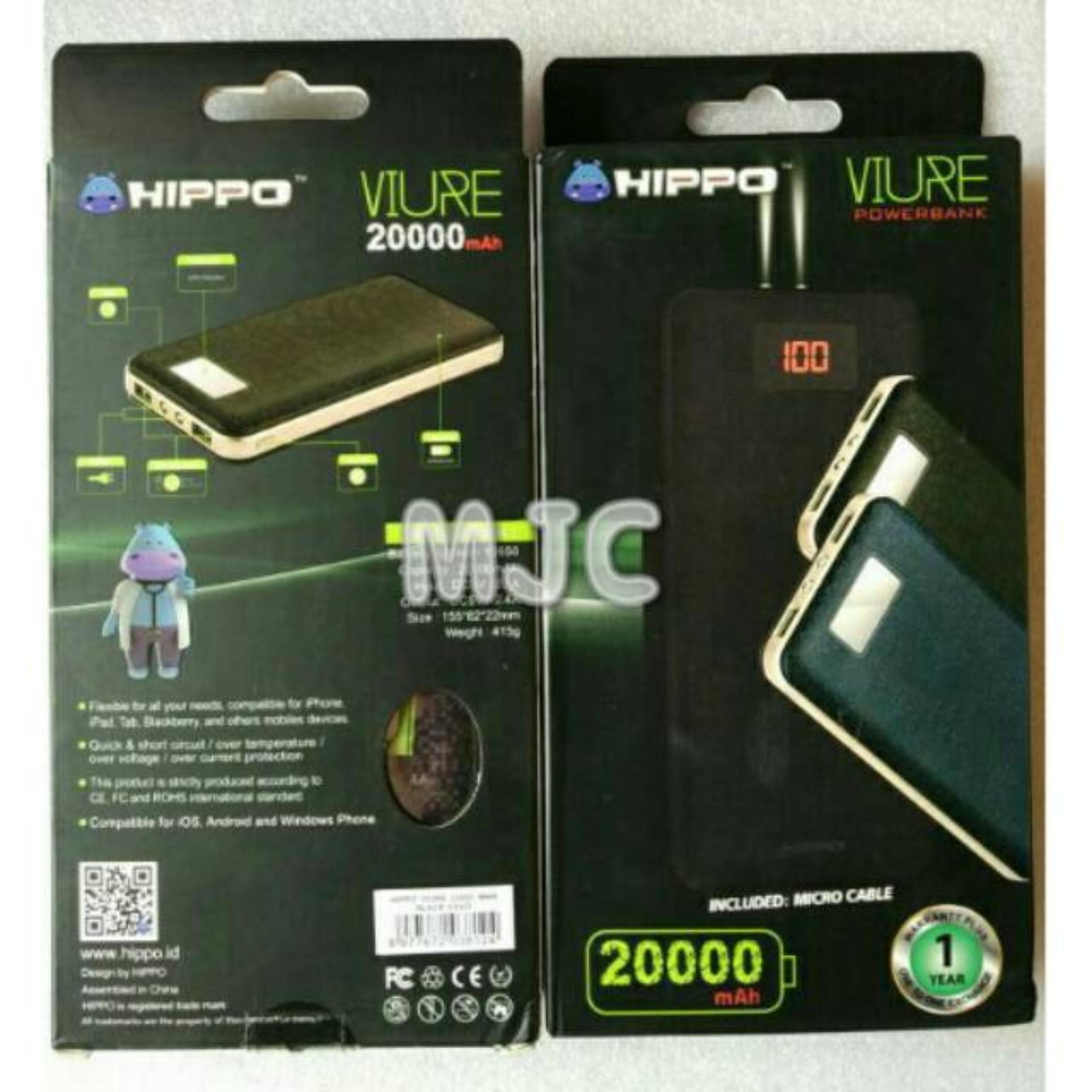 Hippo Power Bank Viure 20000 Mah Simple Pack - Garansi Resmi 1Tahun ...