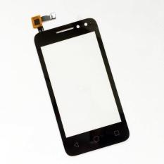 (Hitam) Baru untuk Alcatel OT 4034 4034d 4034a 4034e Ot4034 Ot-4034 Layar Sentuh Digitizer Aksesoris + 3 M Tape + Pembukaan Repair ALAT + Lem