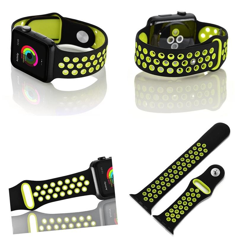 ... Hot Sales 42mm 1:1 Size Strap Silicon Sports Watch Band Strap for Apple Watch ...