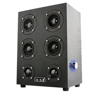 speakers subwoofer. hp-x7 wooden speaker subwoofer usb audio speakers (black)