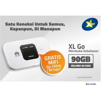 Huawei E5577 Modem 4G MiFi Bundling XL Go 90GB/3Bulan - Unlock - White