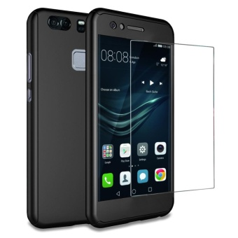 Huawei P9 Plus case , Mooncase 360? Full Protection Matte PC HardHybrid Ultra thin Case + Tempered Glass for Huawei P9 Plus - intl