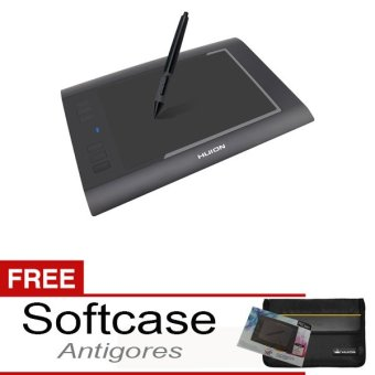 "Huion Graphic Tablets H58L Active Area 8x5"" Small Bonus Softcase & Antigores"