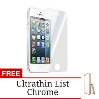 Gratis Shining Chrome 5s SE Clear Hunter Tempered Glass Screen Protector for Apple iPhone 5