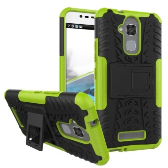Hybrid Rugged Heavy Duty Armor Hard Back Cover Case for ASUS ZenFone 3 Max 5.5 Inch ZC553KL Stand Case with Kickstand - intl