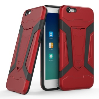 Hybrid TPU Bumper PC Back Case Cover for OPPO F3 (Red) - intl