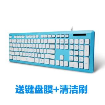 I5 Cokelat Berkabel Mode Meja Komputer Buku Tulis Permainan Keyboard