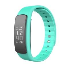 I6HR Tahan Air Bluetooth Smart Monitor Detak Jantung Kebugaran Tracker Band (Hijau)-Intl