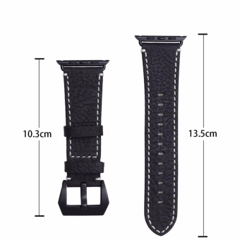 ICHECKEY Pommel horse retro models 42mm Leather Apple iWatch Smart Watch Sport Band Quick Release Bracelet Strap Wristband Replacement Watchband for Apple Watch Band Series 1 Series 2 - intl - 5