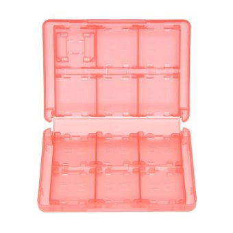 Harga 28 in 1 Game Card Case Holder Cartridge Box for Nintendo 3DS DSL DSi DSi LL (Red)