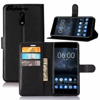 Harga Cyboris Multifunctional PU Leather Magnetic Flip Wallet Case Book Cover for Nokia 6 Phone Protective Skin Cases - intl