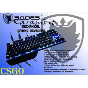 Harga SADES KARAMBIT GAMING MECHANICAL KEYBOARD TKL