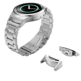 Watch Band Strap and Connector for Samsung Galaxy Gear S2 SM-R720 Stainless Steel Strap - intl ...
