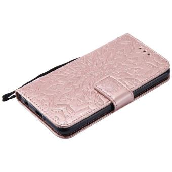 ... Sunflower pattern PU Leather Wallet Stand Flip Case Cover For LG X Power Case intl