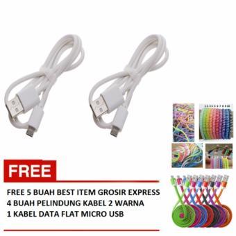 ... Kabel 2 Warna Source Vivan Micro. Source · Vivan Micro USB Data Bulat - Putih (2 Buah) + Free 4 Buah Pelindung