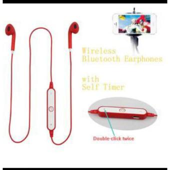 Bluetooth Stereo Waterproof Sport Headset Earphone Mic V4 1 Merah .