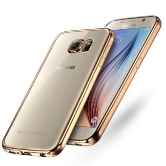 LIKGUS Tough Shield TPU Chrome Case for Samsung Galaxy J7 Prime - Gold