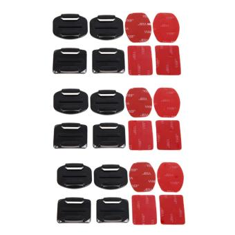 Harga Curved and Flat Surface 12pcs Mount 3M Adhesive Sticker GoPro Xiaomi