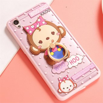 Harga Oppo A37 Cute monkey TPU fashion phone case/Bow monkey - intl