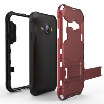 Radical Casing Armor Kickstand Series For Samsung Galaxy J1 Ace Hitam Free Tempered .