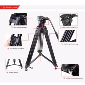 Kingjue - Kingjoy - Video Handycam Proffesional Tripod - VT-2500 - 3