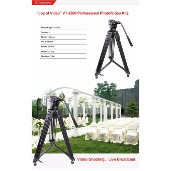 Kingjue - Kingjoy - Video Handycam Proffesional Tripod - VT-2500 - 2