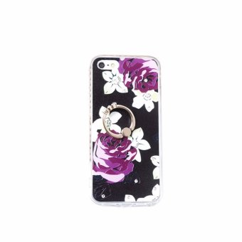 Harga Paroparoshop Purple Rose Ring Case for iPhone 6/6s/6g - Black