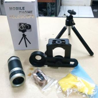 Harga LENSA TELE ZOOM 8X + TRIPOD MINI + HOLDER U