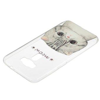 White cat TPU Soft Gasbag Back Case Cover For Asus Zenfone 3 ZE552KL .