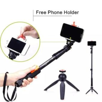 1 Selfie Stick Built In Bluetooth Tripod Lensa Superwide Waterproof Smartphone Lampu Selfie .