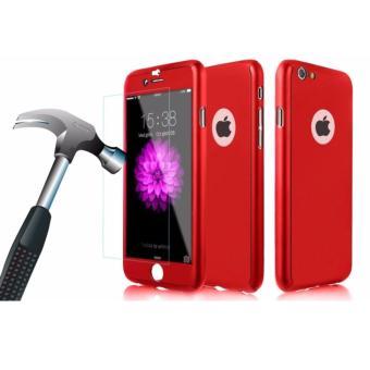 ... Galeri Produk hardcase case 360 iphone 6 6s casing full body cover merah free tempered glass